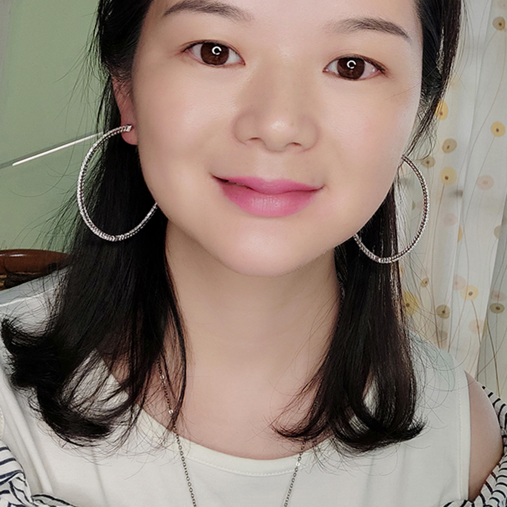 Big real silver hoop earrings (1)
