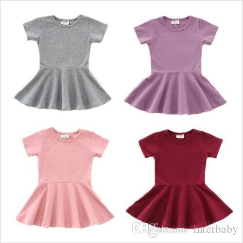 Infant Kids Baby Boys Girls Candy Color Solid Knitted Undershirt Clothes AB