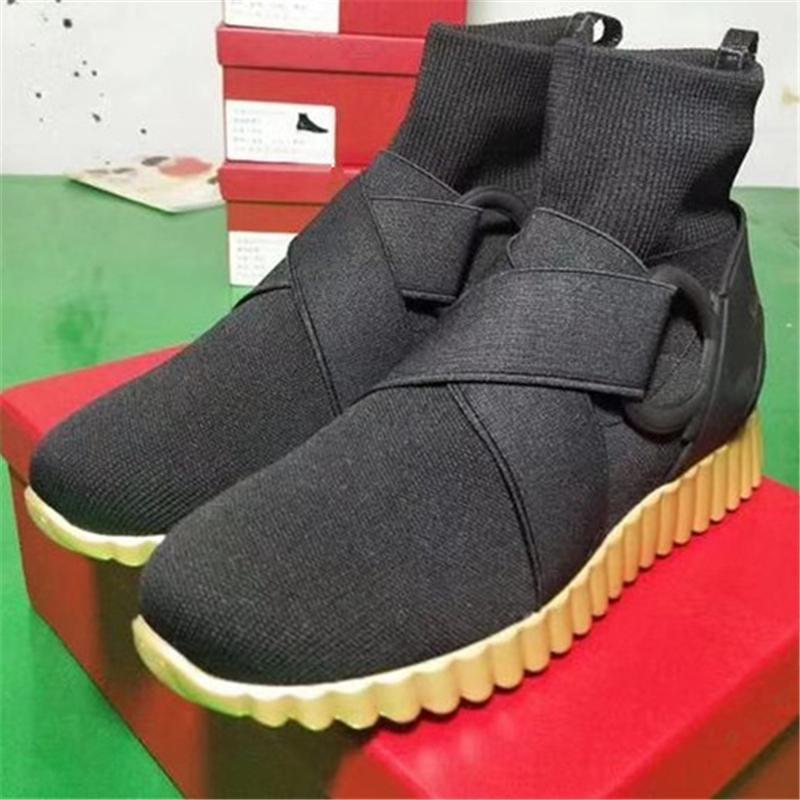 overseas2019 Lady Sock European Luxury Designer Elastic Cool Shoes Slip On Buckled Boots Quality