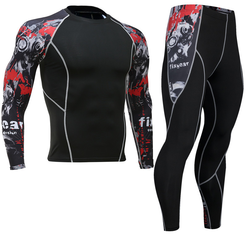 Newest-Fitness-Compression-Sets-Jerseys-Men-3D-Printed-MMA-Crossfit-Muscle-Shirt-Leggings-Base-Layer-Tights (2)