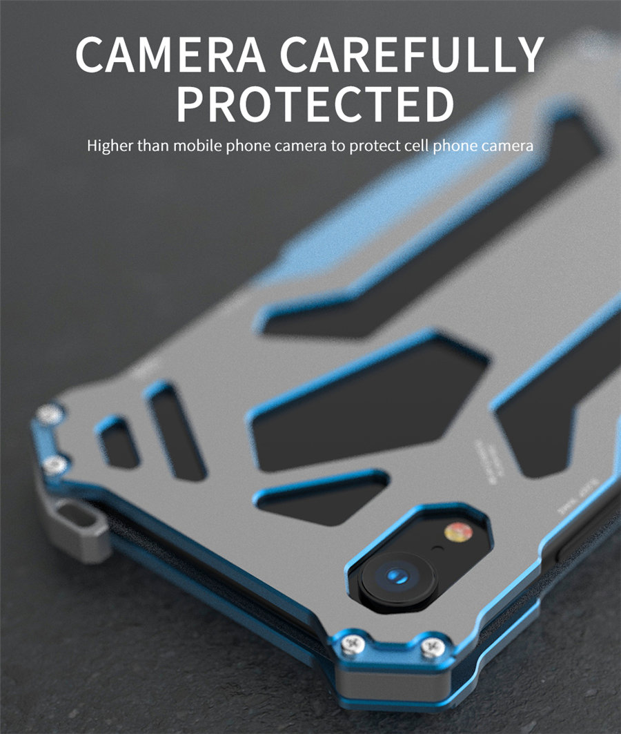 Cool Metal Phone Case For iPhone XS Max Case Cover For iPhone XS R-JUST Gundam Aluminum Case Coque Capa Funda For iPhone XR (7)