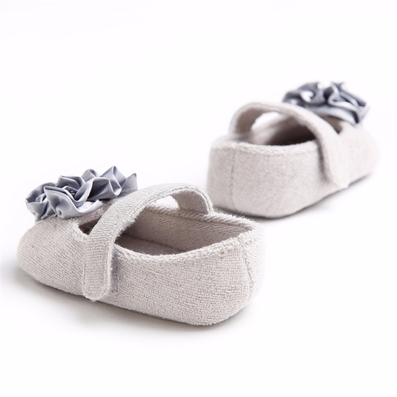 Baby Girls Shoes Fashion Newborn Infant Baby Girls Flower Pearl Soft Sole Anti-slip Princess Shoes Baby First Walker JE25#F (25)