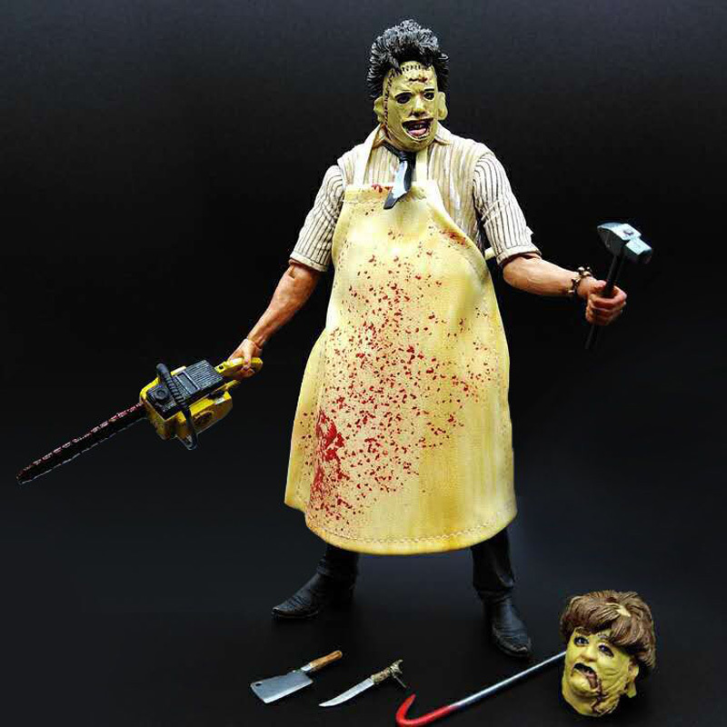 18cm NECA 40th Anniversary Ultimate Leatherface Classic Terror Movie The Texas Chainsaw Massacre Action Figure In 3D Boxed (1)