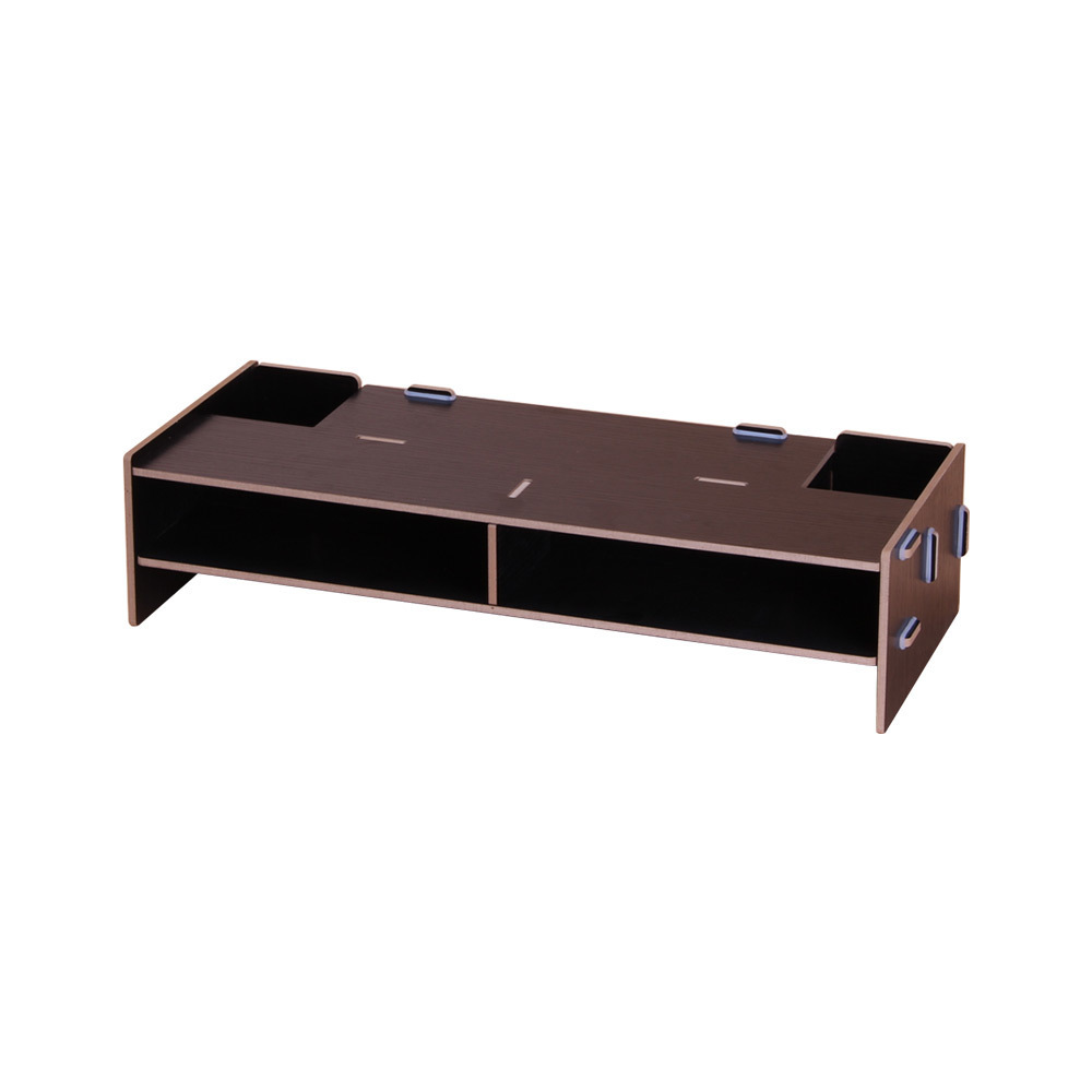 Wooden Desk Organizer Monitor Stand Riser Computer Desk Organizer With Storage Slots For Office Supplies School Teachers SH190713