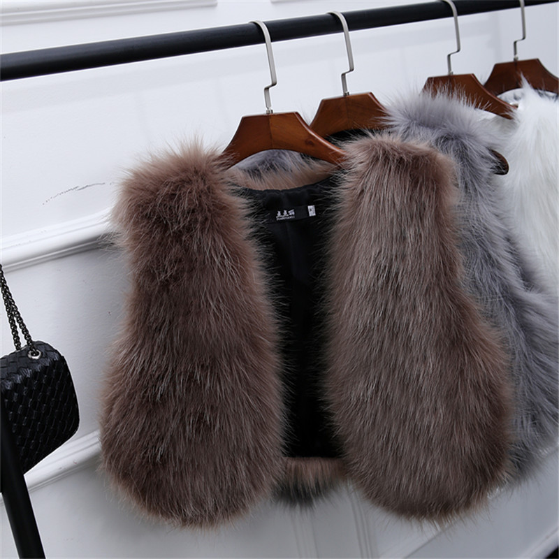 Charm2019 Pattern Leather And Fur Loose Coat Imitate Fox Woolen Vest Baby Waistcoat