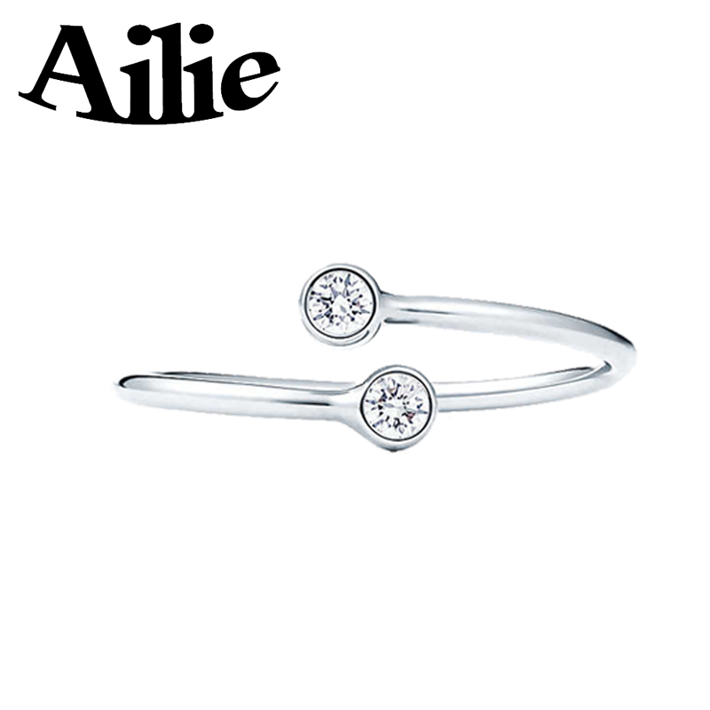 Эйли оригинальный высокое качество стерлингового серебра 925 пробы кольцо с бусинами круглого типа из бисера розовое золото классический Джейн мода леди ювелирные изделия пара подарок