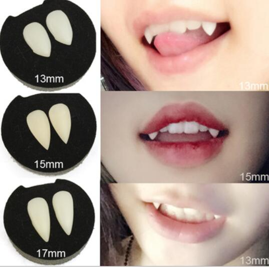 Halloween Cosplay Vampire Fangs Werwolf Zähne Fancy Tooth lebensechte Zähne