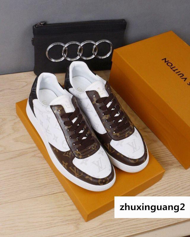 Café classique blanc Casual 2081 Guan Hommes Chaussures Habillées Bottes Mocassins Boucles Pilotes Baskets Sandales