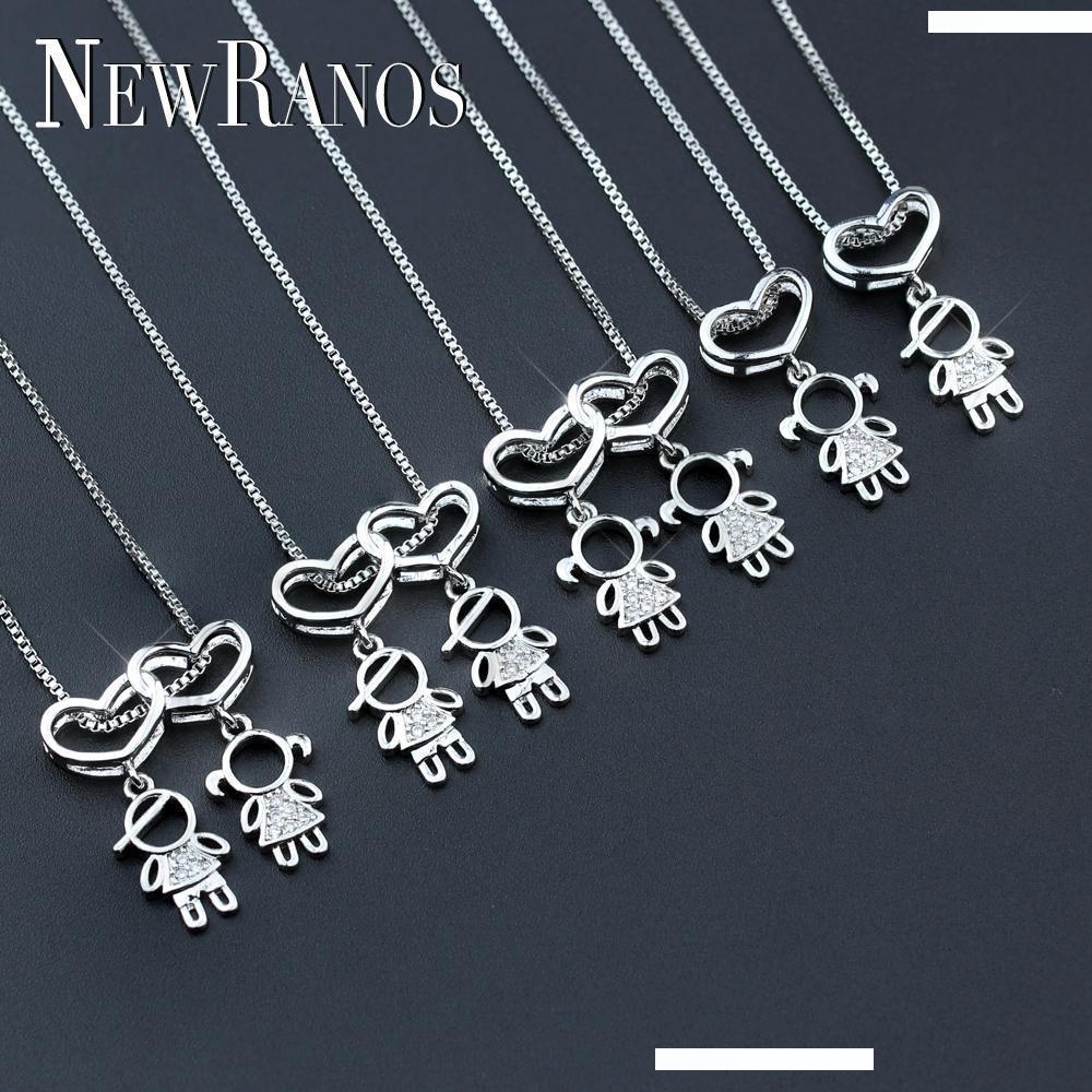 Mother Baby Horse Beads Tibetan Silver Charms Pendant DIY Bracelet 8pcs 28*23mm