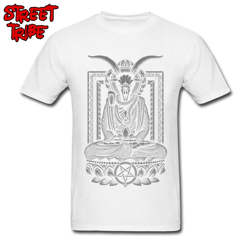 Tops & Tees Baphomet Nirvana Charcoal Tops Shirt Summer/Fall Cheap Funny Short Sleeve 100% Cotton O-Neck Men\`s T Shirts Funny Baphomet Nirvana Charcoal white