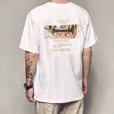 Japan Cartoon Naruto Print T Shirts Men Fashions clothing Streetwear Funny Tshirt dragonballMen Hip Hop T-Shirt Summer M-3XL