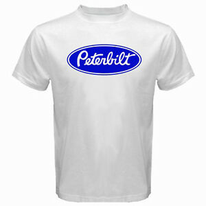 Nouveau PETERBILT RARE LOGO Camion Trucker Homme T-shirt noir taille S à 3XL