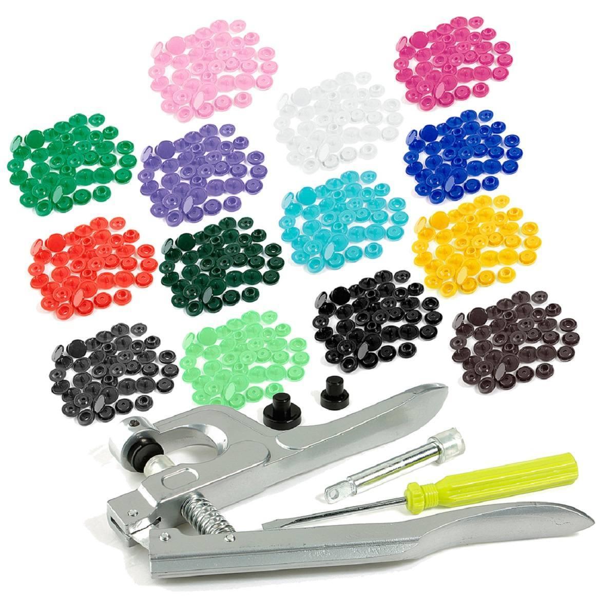 Snap Pince Fastener Press Stud Bouton Fixation Outil de Couture Craft Kit Setter Q