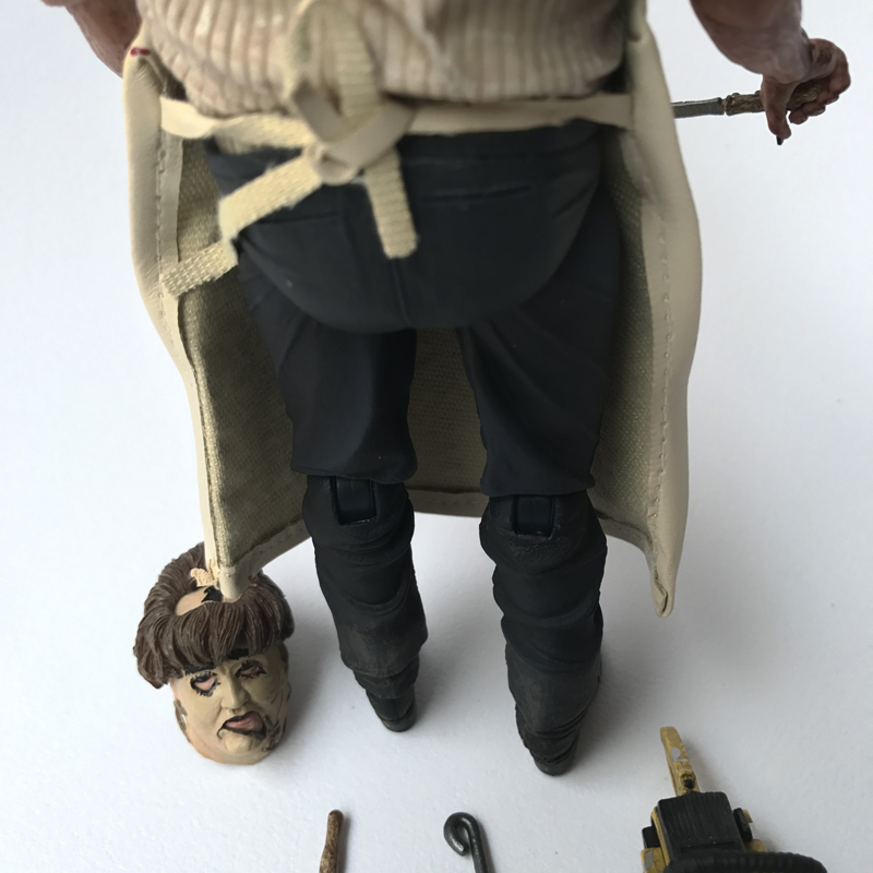 18cm NECA 40th Anniversary Ultimate Leatherface Classic Terror Movie The Texas Chainsaw Massacre Action Figure In 3D Boxed (2)