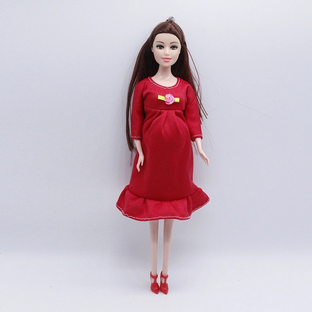 2018 New Educational Real Pregnant Doll Suits Mom Doll Have A Baby In Her Tummy For 1/6 Girls Toys Best Gift
