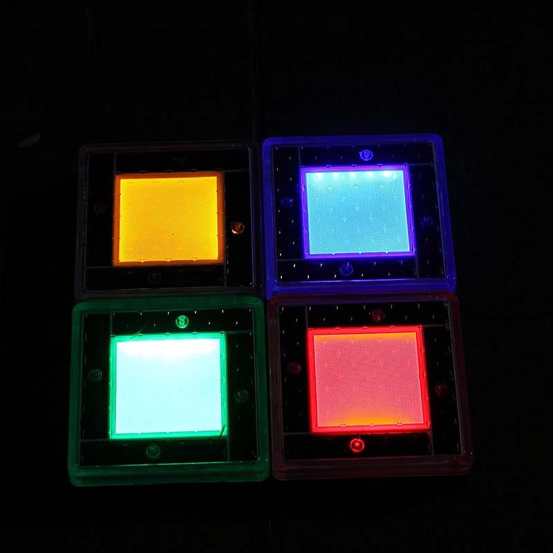 Güneş Yeraltı Lambası LED Bahçe Işık Sıkıştırma Açık Yol Kare Tuğla Işıkları Açık Yaratıcı Dekoratif Işıklar Kırmızı ve Mavi