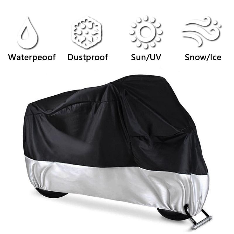 Motorcycle Waterproof Outdoor Vented Motor Bike Scooter Dust Rain Cover 3XL UK