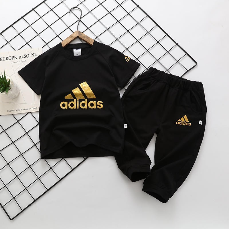 2019 baby clothing set Delivery of Summer Suit Three-dimensional Gold-stamping Logo Triangle Large Bid tracksuit Hot Sale Unisex off-w951