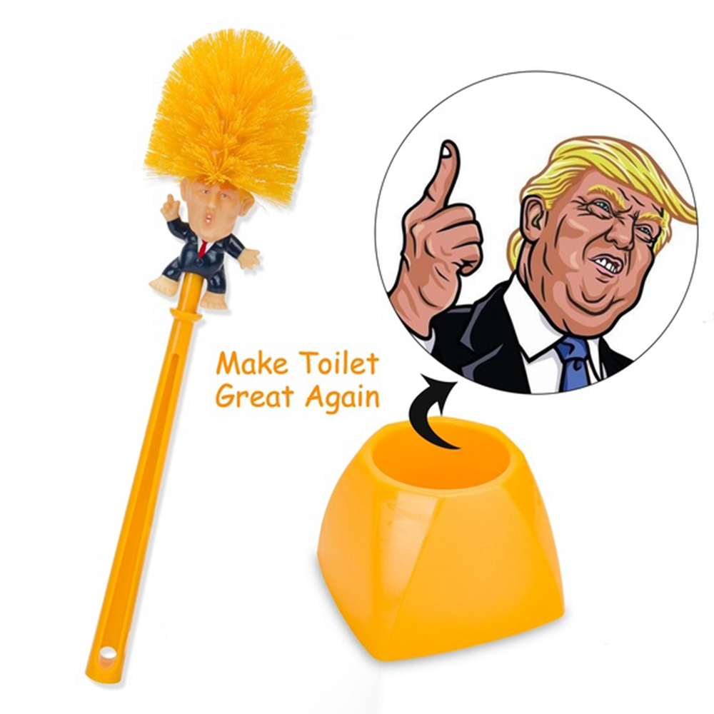 Funny Present Donald Trump Cleaning Tool Presidential Home Use Toilet Brush //D3