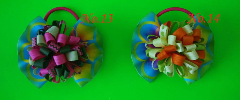 "100 BLESSING Girl 4.5/"" Spangle ABC Hair Bow Clip Flash Wholesale 68 No Colorful"
