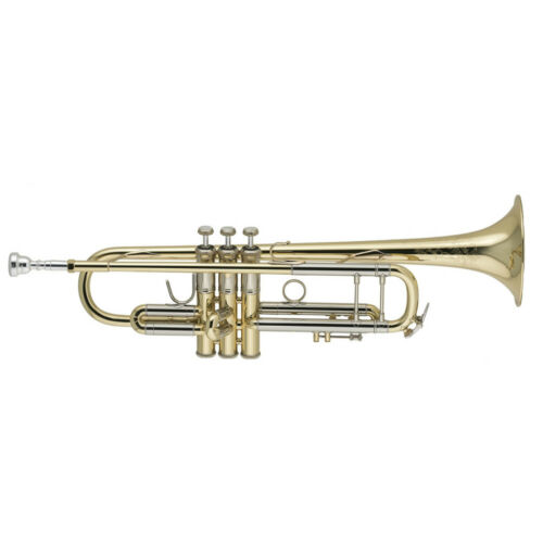 High Level Bach 19037 Gold Plated Bb Trumpet ML Anniversary Model Trumpete with Original Blue SUPERB CONDITION with Case