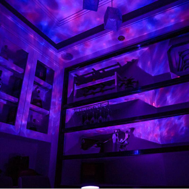 Contrôle à distance Version de la lampe de projection marine romantique étoiles Waves colorés Daren carte lampe de projection colorée Ocean Idées Talent