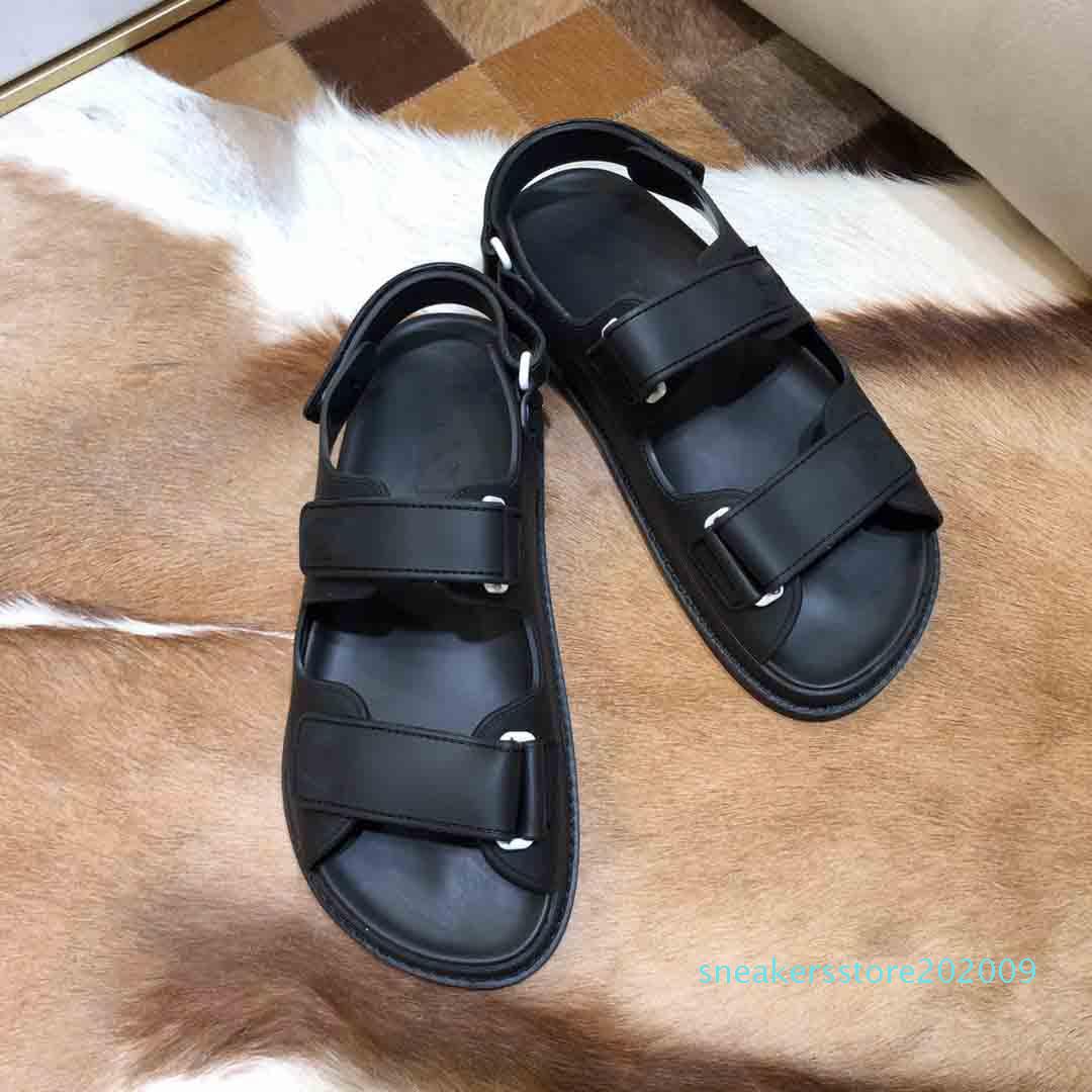 2020 Super hot new sandals, luxury men and women sandals, designer men sandals, designer women sandal, Velcro flat sandal S09