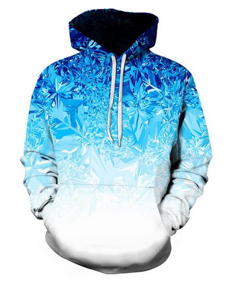 New Fashion Harajuku Style Casual 3D Printing Hoodies Ice Crystal Men / Women Autumn and Winter Sweatshirt Hoodies Coats BW0177