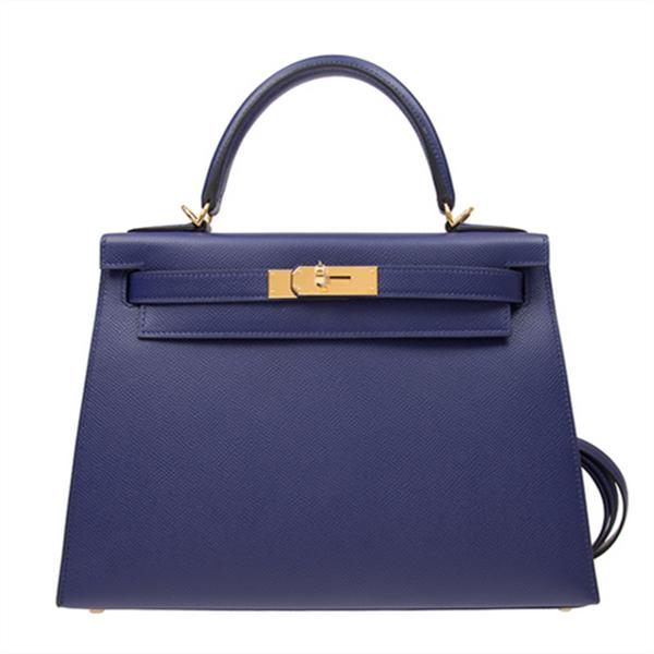 /  handbag KELLY28M3 blue EPSOM gold buckle ladies handbag