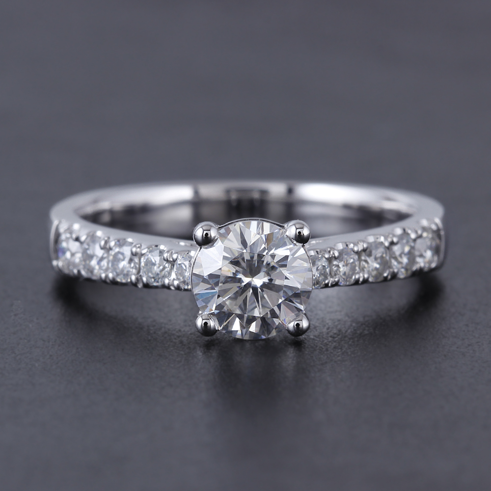 solitaire engagement ring moissanite ring (2)