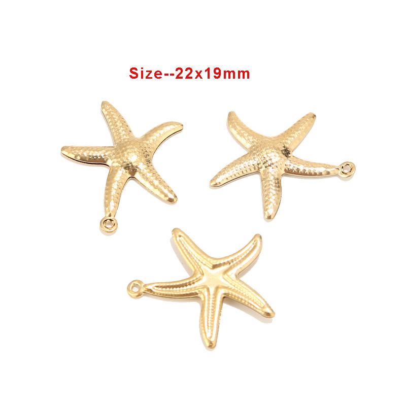 10 x Tibetan Silver STARFISH SEA STAR 22mm Charms Pendants Beads