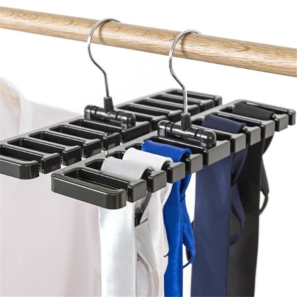 LIYIMENG Belt Storage Rack Hanging Tie Shelf Closet Shelves Organizer Multifunctional Wardrobe Space Saver Scarf Rack 2