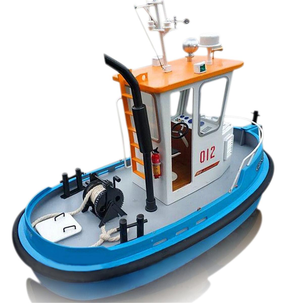 Nuovo 1:18 Pine Mini 270 * 130 * 190 m RC Tugboat salvataggio ABS Barca di modello in legno Kit fai da te Kit fai da te RC Boat