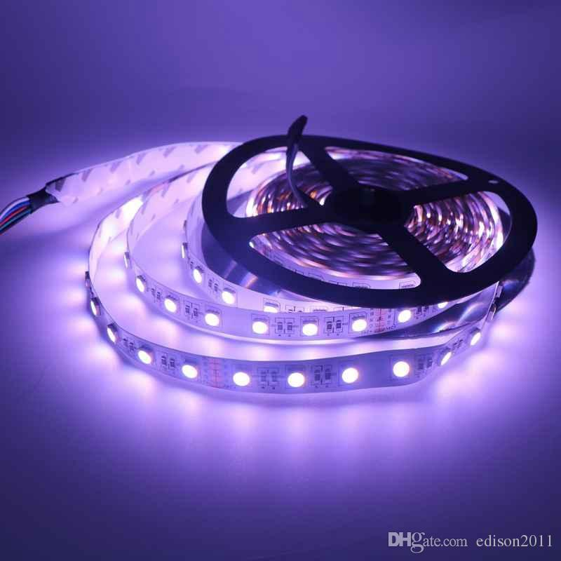 5M SMD 5050 RGBW in 1 LED DC24V RGB+ White/RGB+Warm White Non-Waterproof Led Strip
