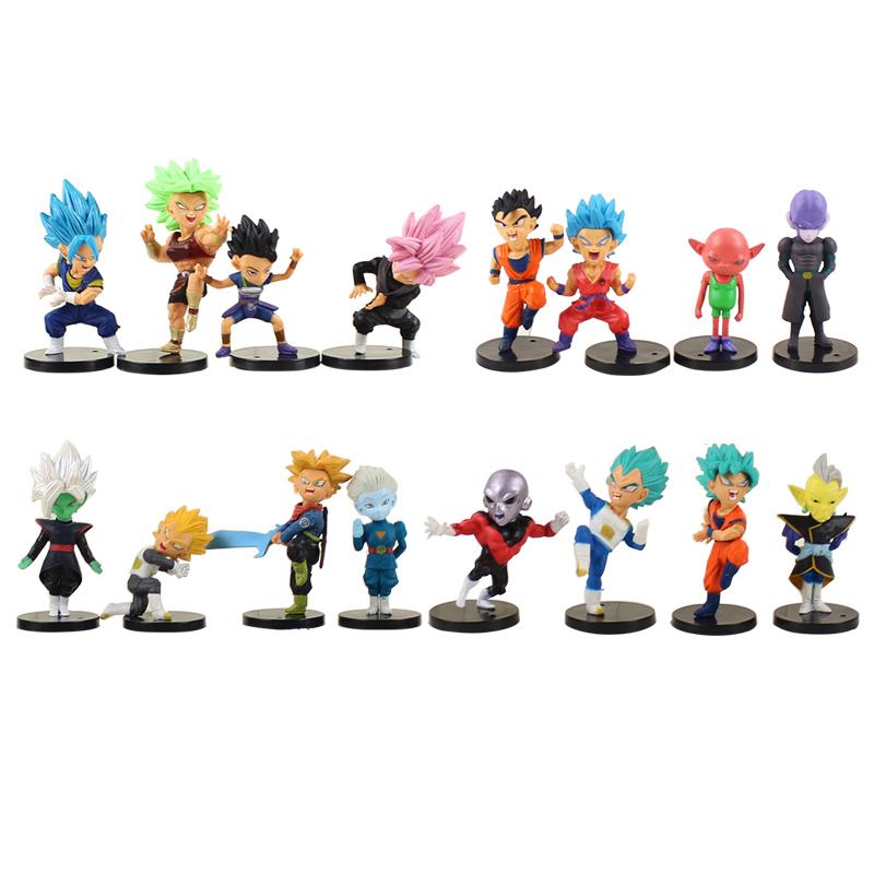 / Dragon Ball Goku Gohan Troncs Végéta Noir Goku Zamasu Broli Jiren Hit Cabba Grand Prêtre Kale Figure Jouets Poupées Y190529