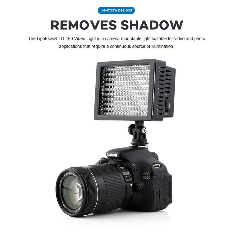 Color : Black Litu Foto L28 Pocket 228 LEDs Professional Vlogging Photography Video /& Photo Studio Light for Canon//Nikon DSLR Cameras Reliable