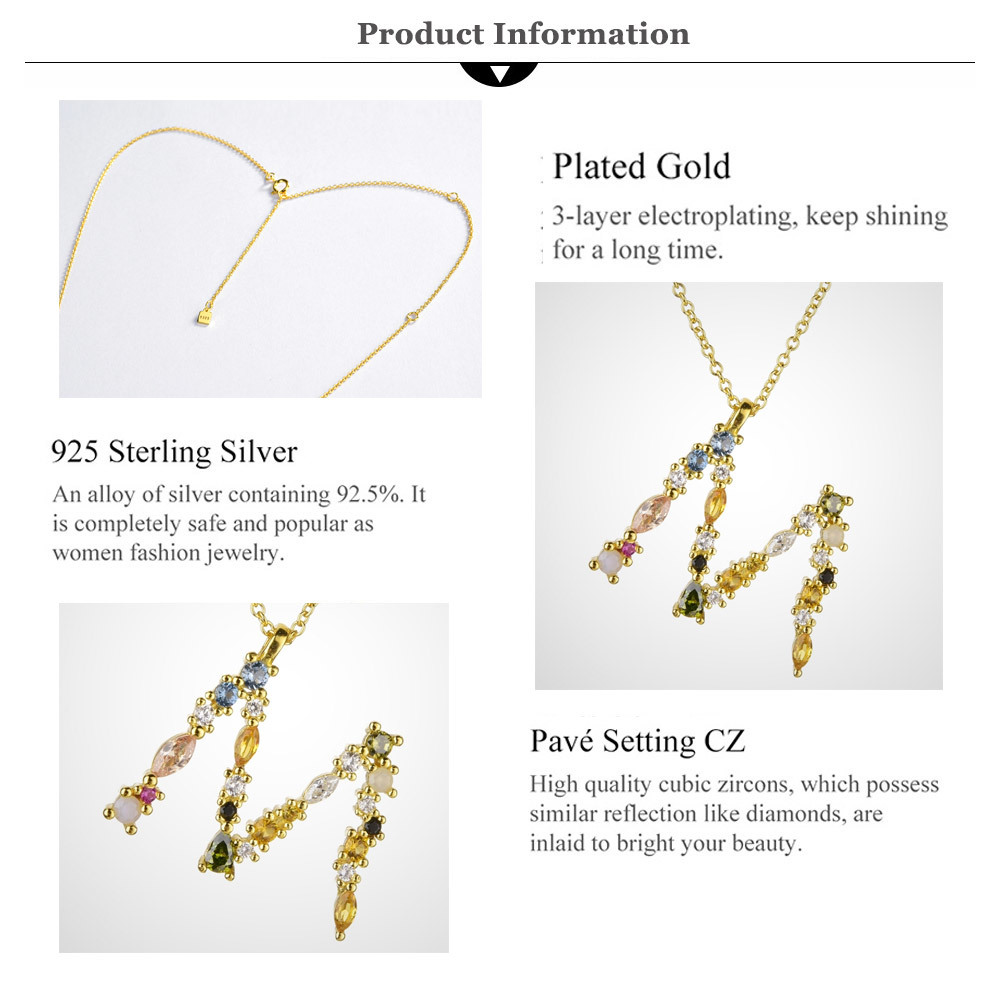 Wholesale Andywen 925 Sterling Silver Gold Leter M Pendant Initial F Alphabet Necklace Monogram Opals 2020 Women Accessories Jewelry Cx200608 Lockets Fashion Jewelry From Mala84 12 47 Dhgate Com