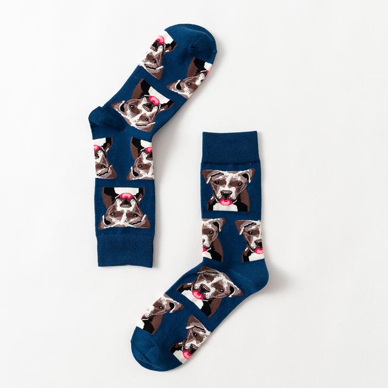 Cute Dog Pattern Men Winter Autumn Casual Sports Sneaker Socks