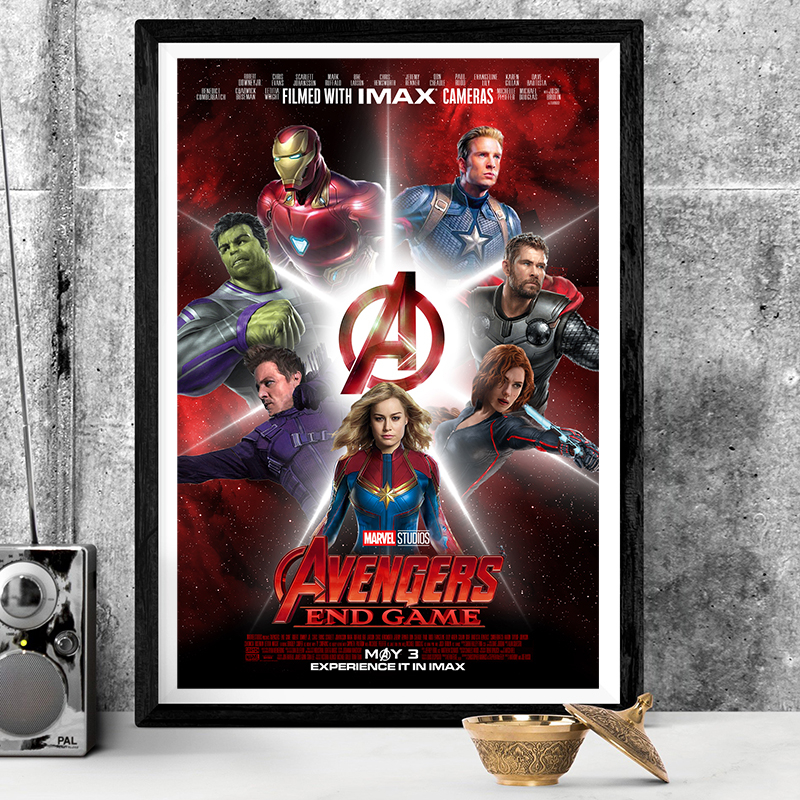 New Avengers End Game Fabric Poster Thor Marvel Movie X-113-14x21 24x36