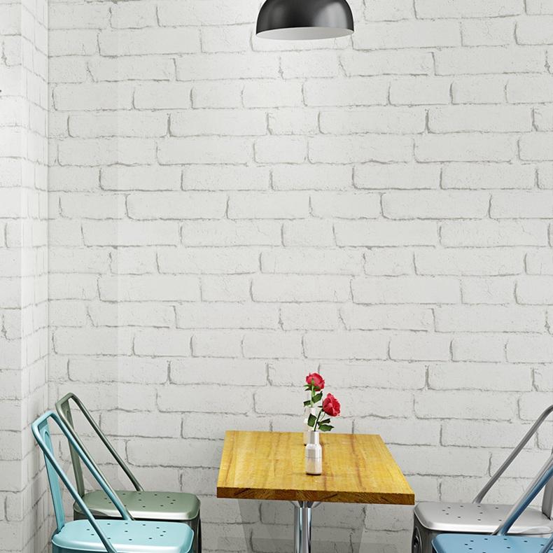 Neu Wandtapete Zimmerdekoration 102539 Muriva Bemalt Weiß Ziegel Tapete