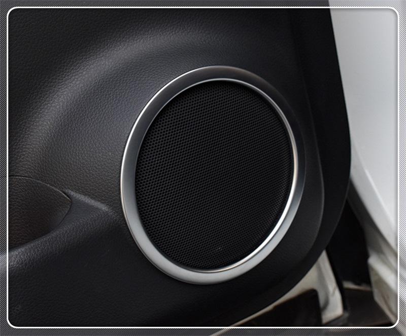 Ajuste del Marco de la Cubierta del Altavoz de Audio de la Puerta del Cromo del ABS para la Clase W205 2015-2019 de C