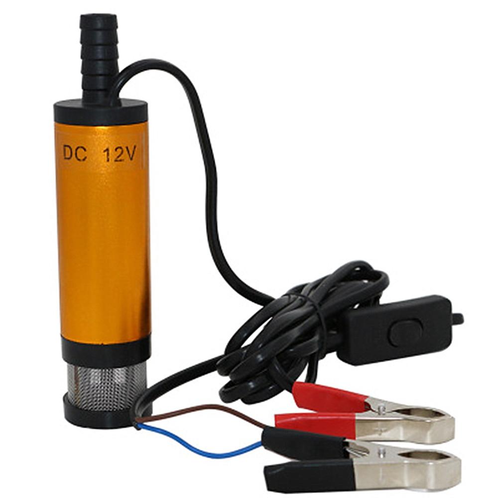 Bomba de transferencia de combustible sumergible port/átil de 12 V//24 V transferencia de l/íquido para coche y moto bomba de sif/ón el/éctrica bomba de transferencia de agua y combustible di/ésel