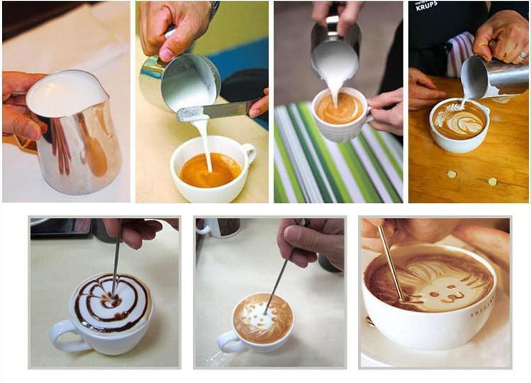 Coffeeware Cappuccino Coffee Art Stainless Steel Barista Needle Latte Pen
