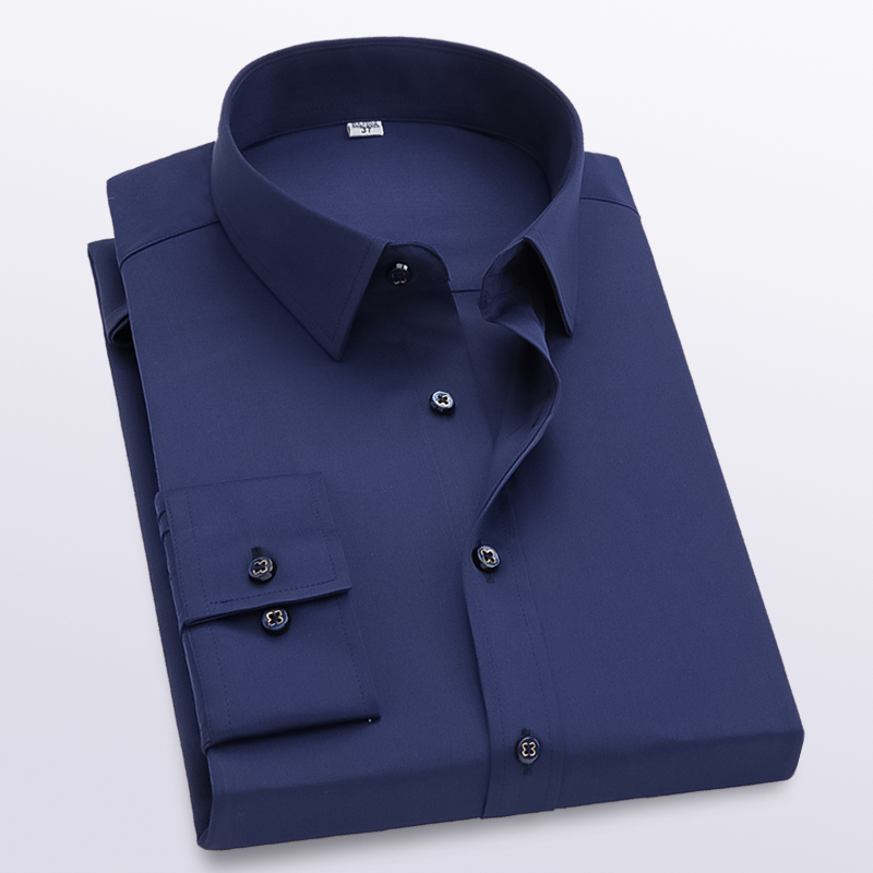 Abetteric Mens Business Leisure Office Fit Tops Comfortable Stylish Shirt