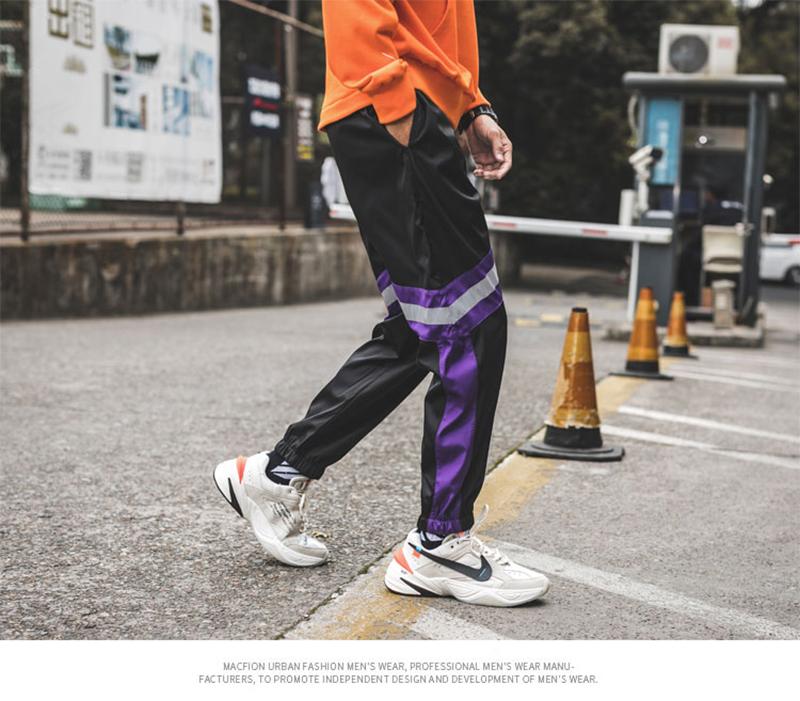 Loose Hip Hop Cargo Pants Men Camouflage Patchwork Harem Mens Trousers Streetwear (49)