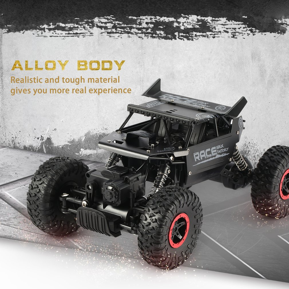 1/18 RC Araba 2.4G 4WD Alaşım Off Road 35 km / saat RC Tırmanma Araba Kaya Paletli Clamber Uzaktan Kumanda Araç Çocuk Oyuncakları