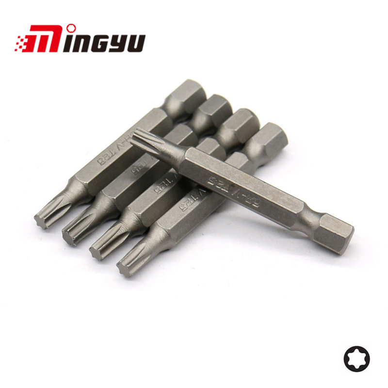 Utoolmart 1//4inch Hex Shank 50mm Length 3mm Tip Magnetic Square Screwdriver Bit 6 Point Screwdriver Kit Tools S2 Quick Release Shank for Easy Attachment 10pcs