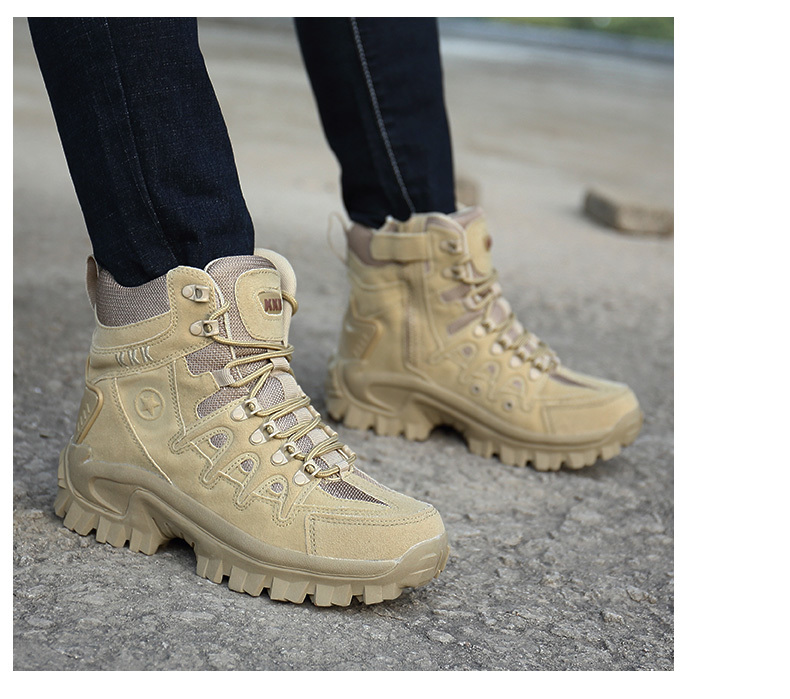 Brand Men\`s Boots Military boot Tactical Big Size Army Male Shoes Safety Combat Mens Chukka Ankle Bot Motocycle Boots (17)