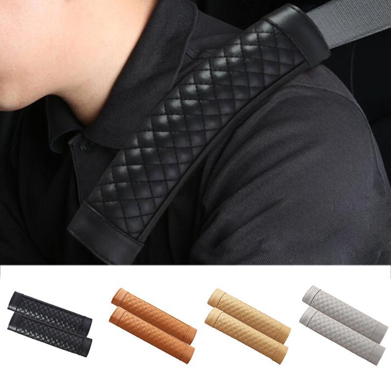 Premiun Quality Soft Seatbelt Cover Pads Purple Beige Black for Adults Women Kids Auto Truck SUV Burgundy 2Pcs Car Seat Belt Cover Shoulder Pads Comfortable Fabric Durable Adjustable Pads