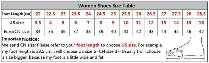 luban women shoes size chart